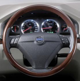 2006 Volvo S80 Wood 3-Spoke Steering Wheel
