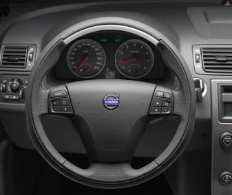 2009 Volvo V50 Sport Steering Wheel with Aluminum Inlay