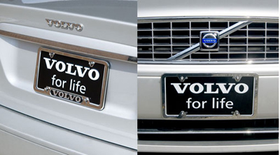2008 Volvo XC90 Number plate, frame