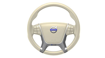 2015 Volvo S80 Steering wheel, sport, leather, Soft beige