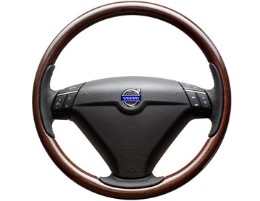 2009 Volvo XC90 Steering wheel, wood, `Dark Wood`