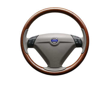 2012 Volvo XC90 Steering wheel, wood, `Sapeli Wood`