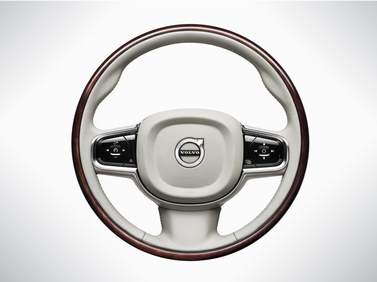 2017 Volvo XC90 Steering wheel, wood